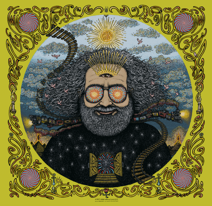 Jerry Garcia Bicycle Day Print - Absinthe