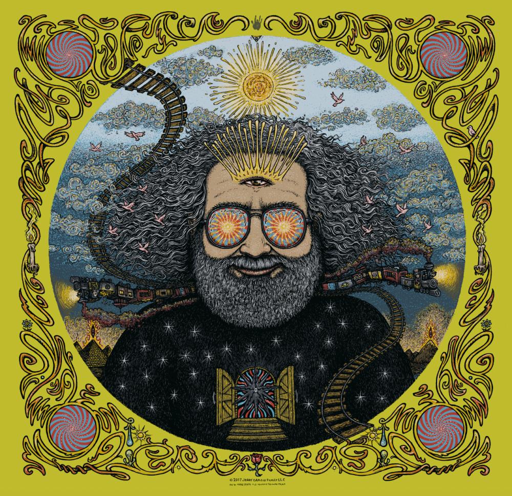 Jerry Garcia Bicycle Day Print - Absinthe