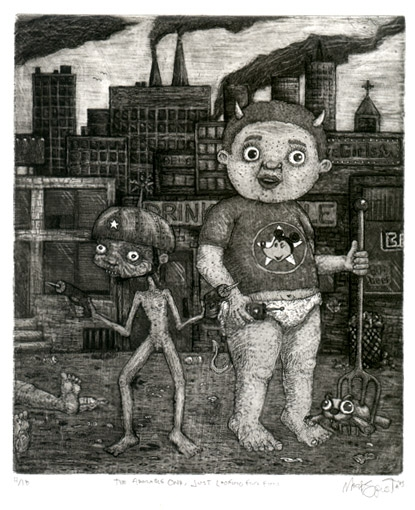 The Adorable One, Just Looking for Fun - Etching 2003