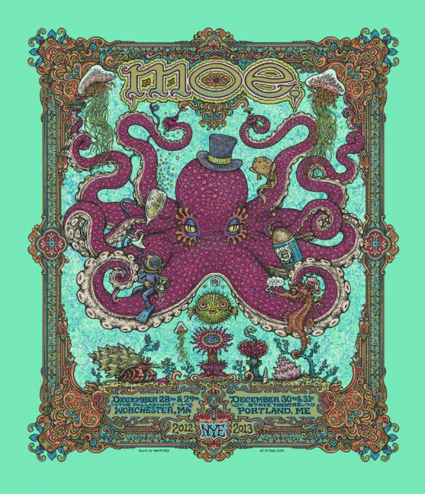 Moe. - NYE poster