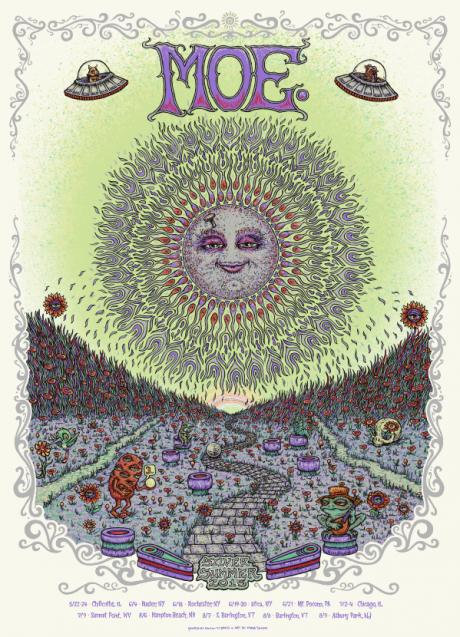 Moe. Silver Summer Tour Poster