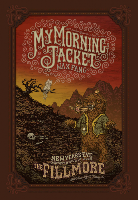 My Morning Jacket Fillmore Poster NYE