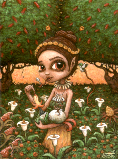 Nectar Goddess acrylic on panel