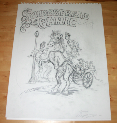 Widespread Panic Charleston oversize sketch