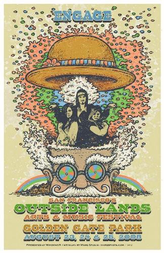 Outside Lands Festival - Golden Gate Park - Customizable Fan Poster