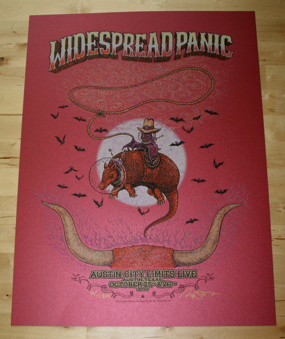 Widespread Panic - Austin City Limits Red Poster