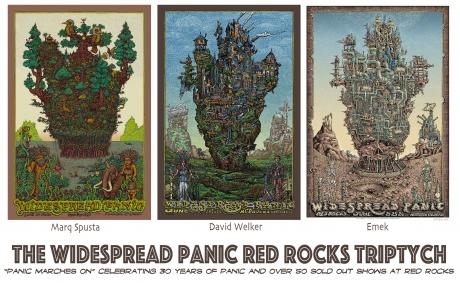 Panic Red Rocks Triptych.