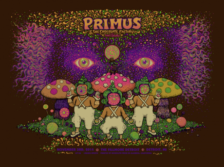 Primus & The Chocolate Factory Detroit Poster
