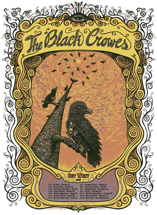 The Black Crowes Out West Poster Marq Spusta