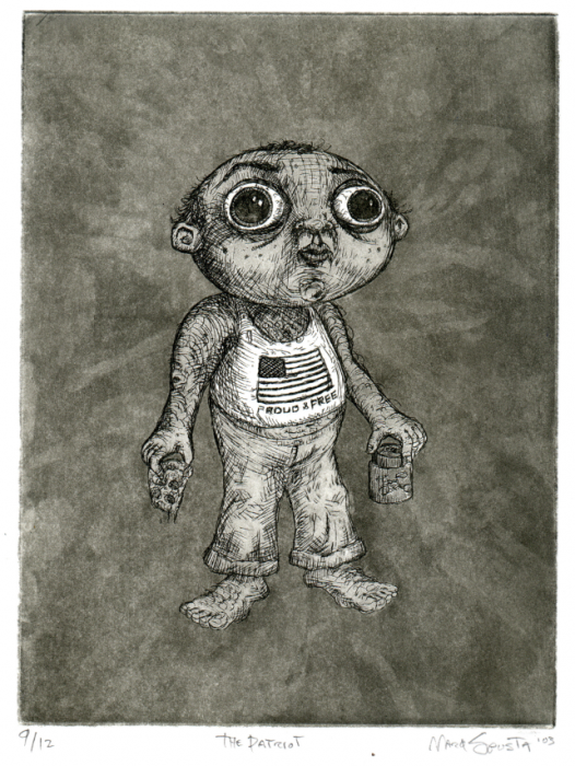 The Patriot etching