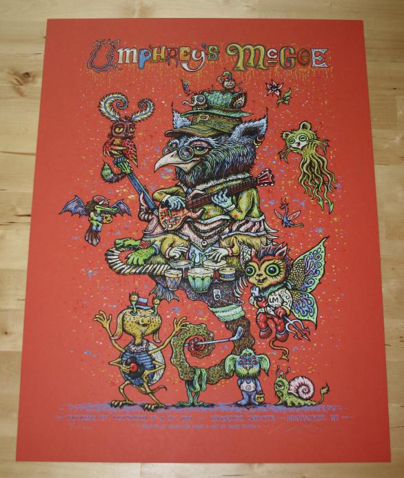 Umphrey\'s McGee Milwaukee Halloween Mash-up poster - Red variant
