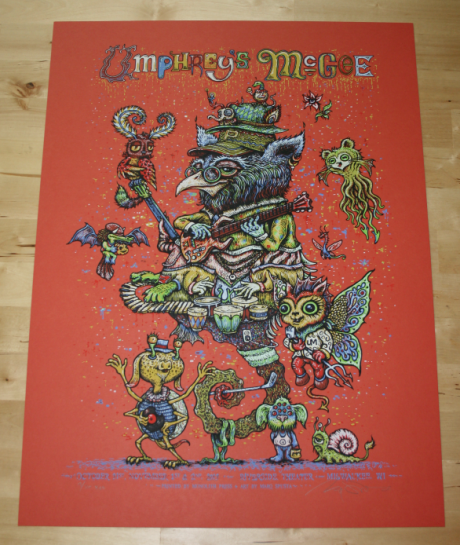 Umphrey\'s McGee Milwaukee Halloween Mash-up poster - Red variant