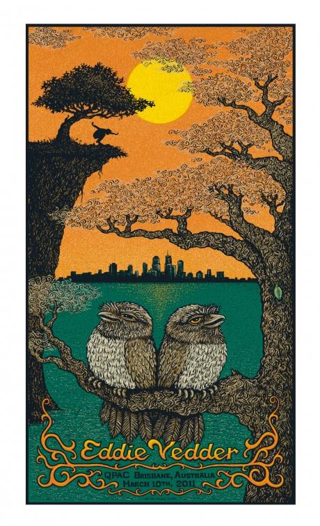 Eddie Vedder - Brisbane Poster