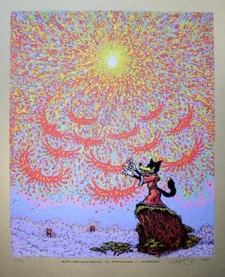 Wolf\'s Symphony screen print