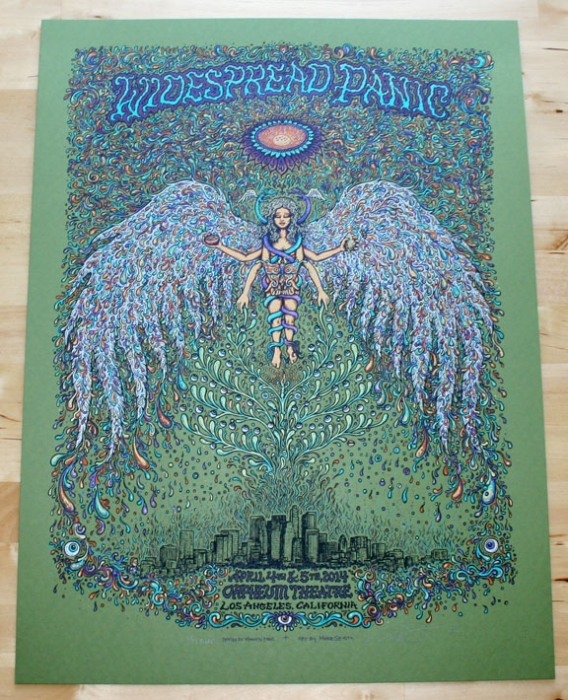 Widespread Panic - Los Angeles Poster Green Edition