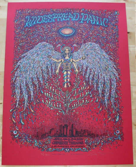 Widespread Panic - Los Angeles Poster Red